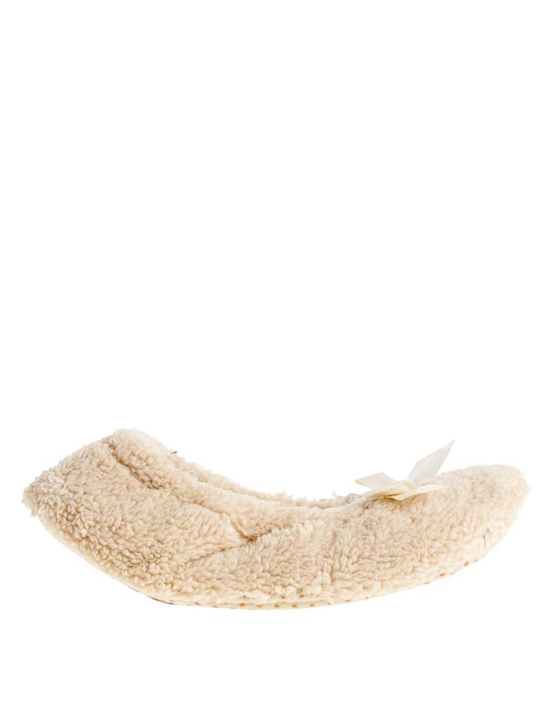 Taş Detaylı Peluş Babet Terlik