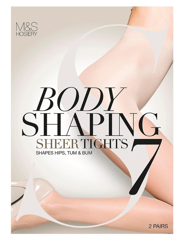 2'li 7 Denye Secret Slimming™ Toparlayıcı Külotlu Çorap