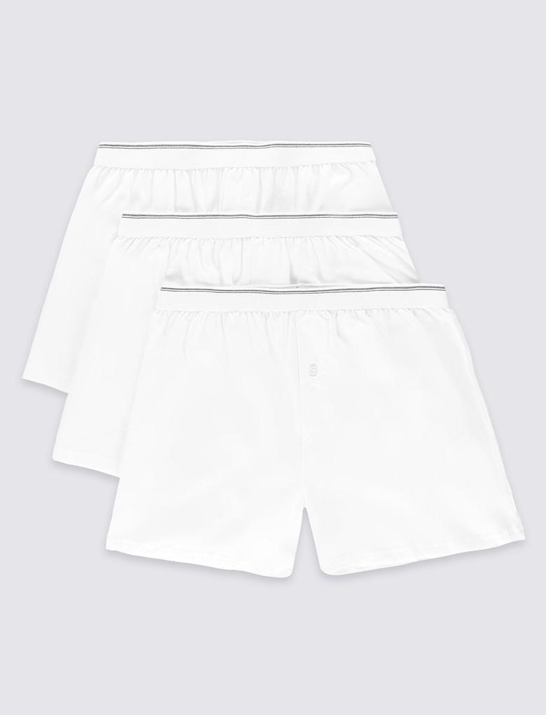 3'lü Saf Pamuklu Cool & Fresh Boxer Seti