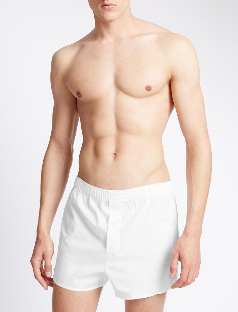 3'lü Pure Cotton Kolay Ütülenebilir Boxer