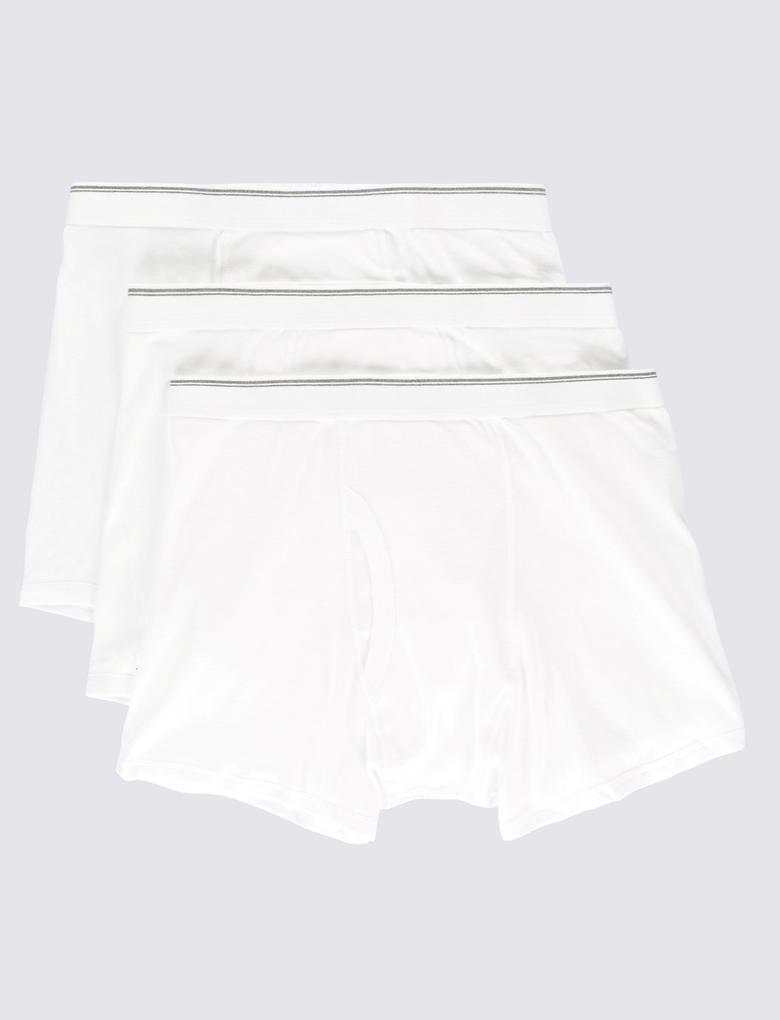 3'lü Saf Pamuklu Cool & Fresh Short Külot