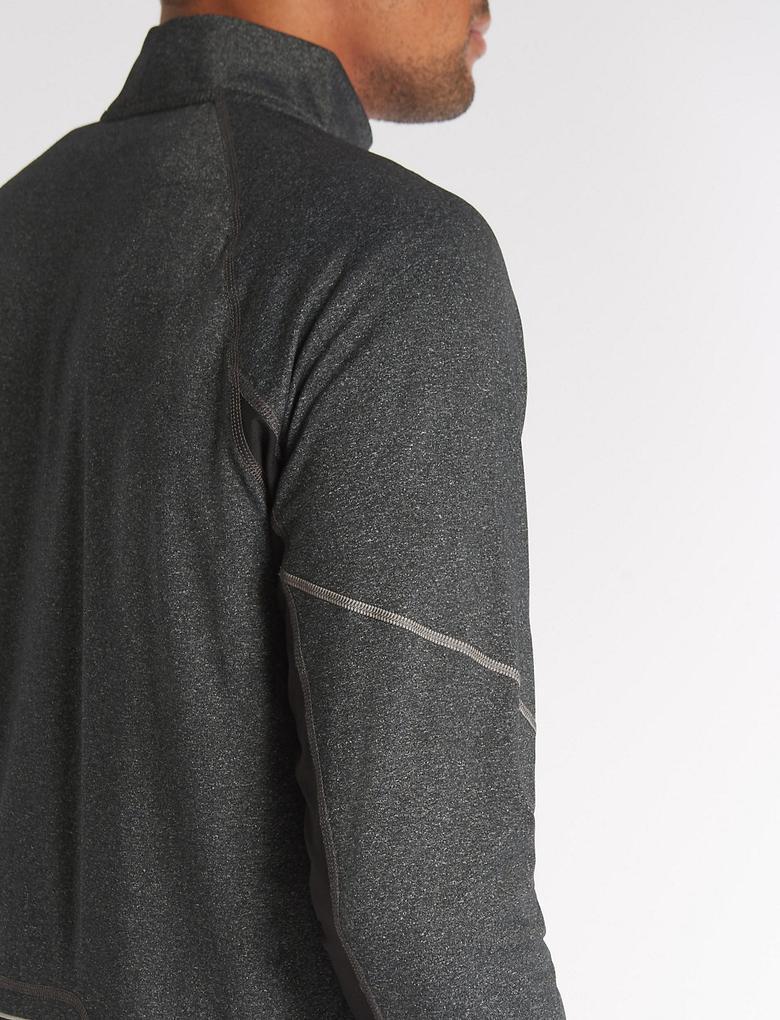 Siyah Spor Hafif Sweatshirt