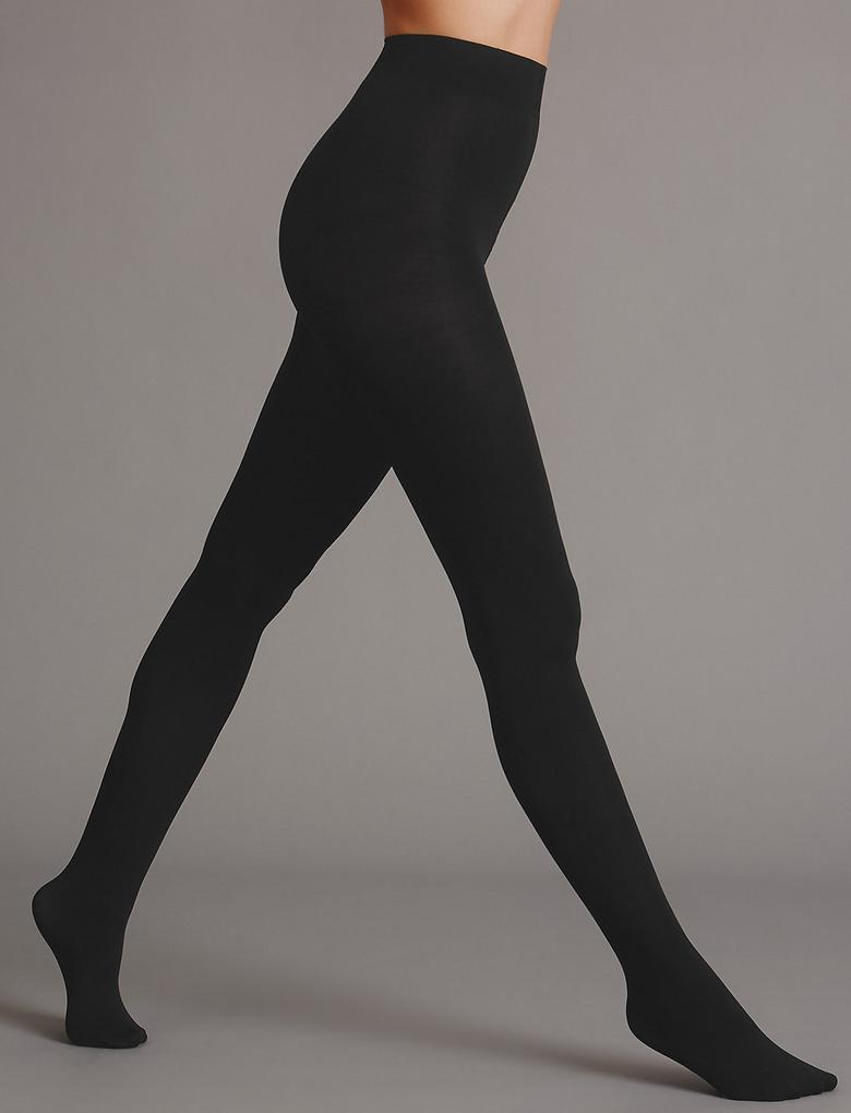 Kadın Siyah 60 Denye Opak Külotlu Çorap