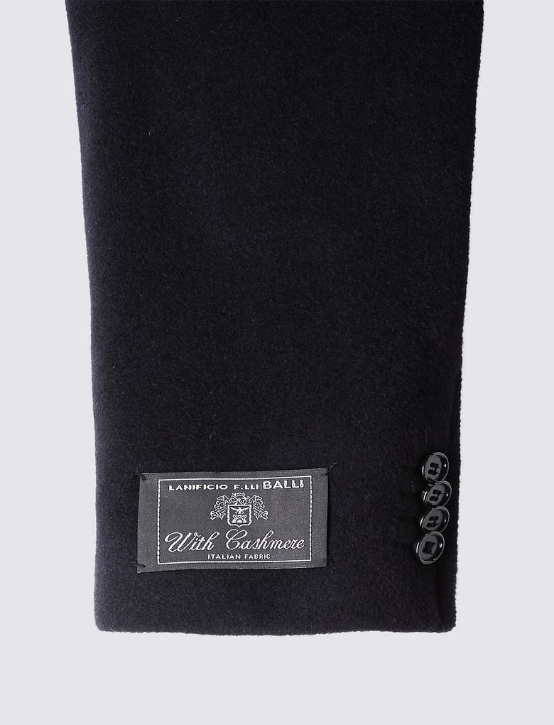 Lacivert Yün Palto (Thinsulate™ Teknolojisi ile)