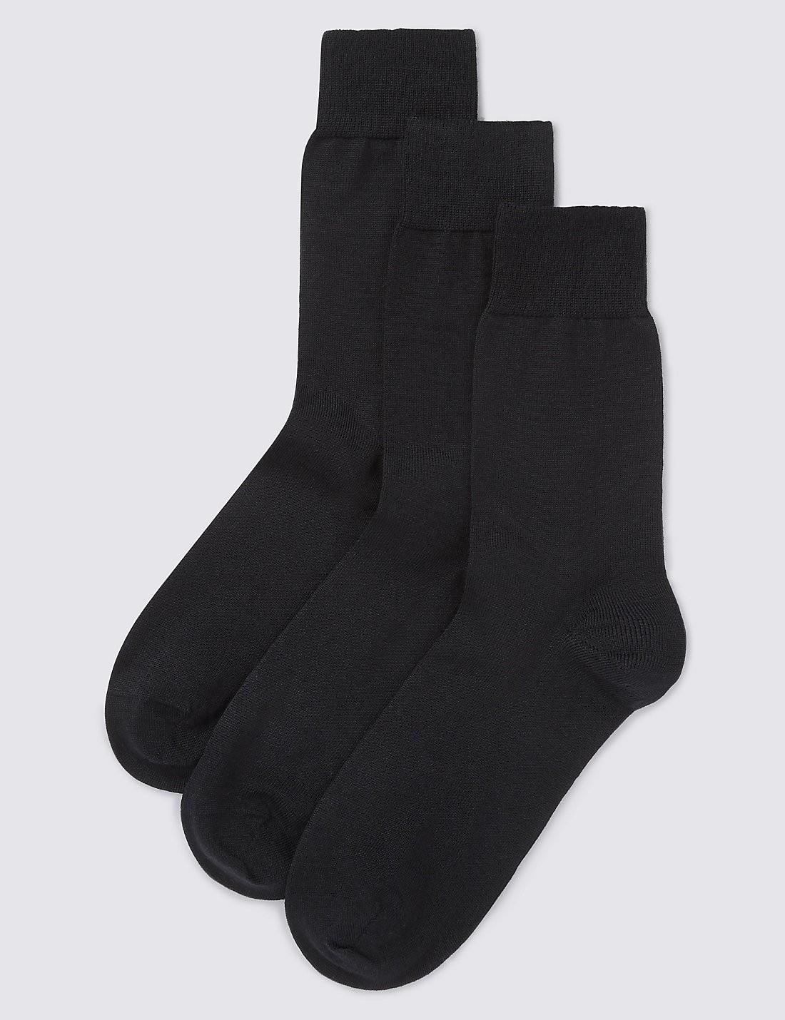 3'lü Merino Yün Karışımlı Çorap