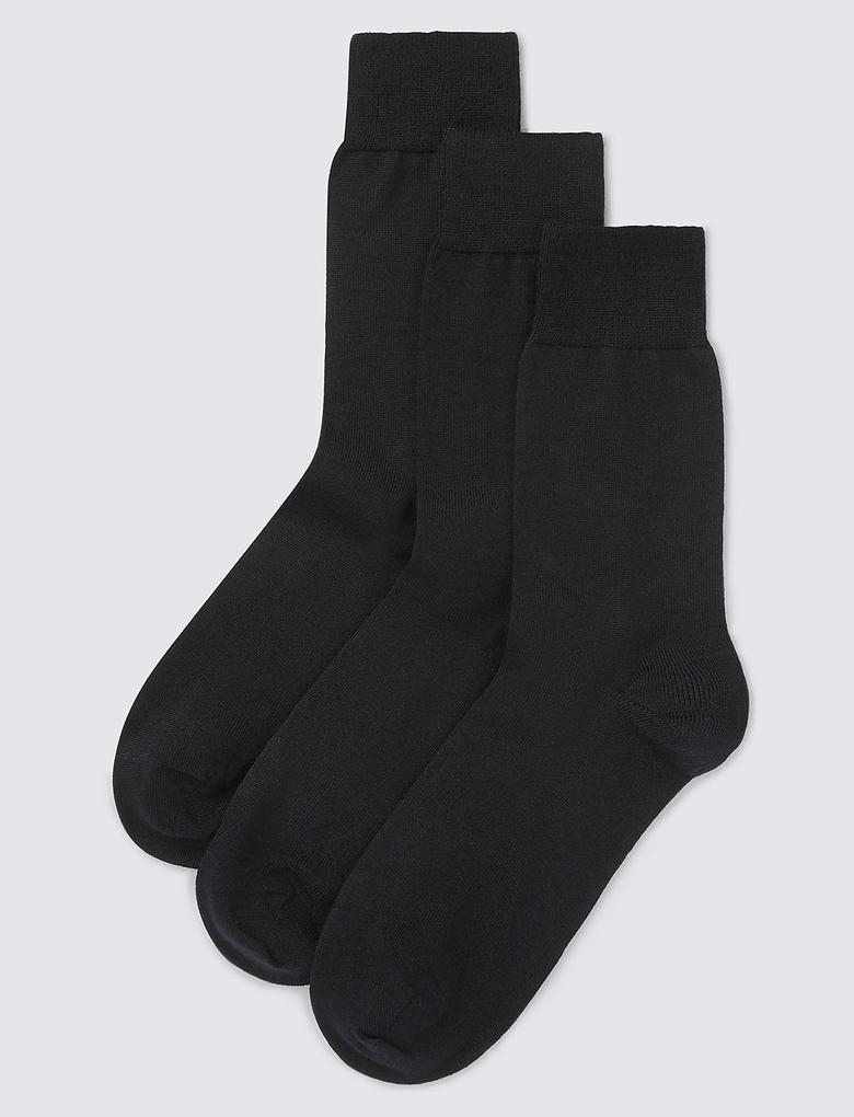 3'lü Merino Yünlü Çorap