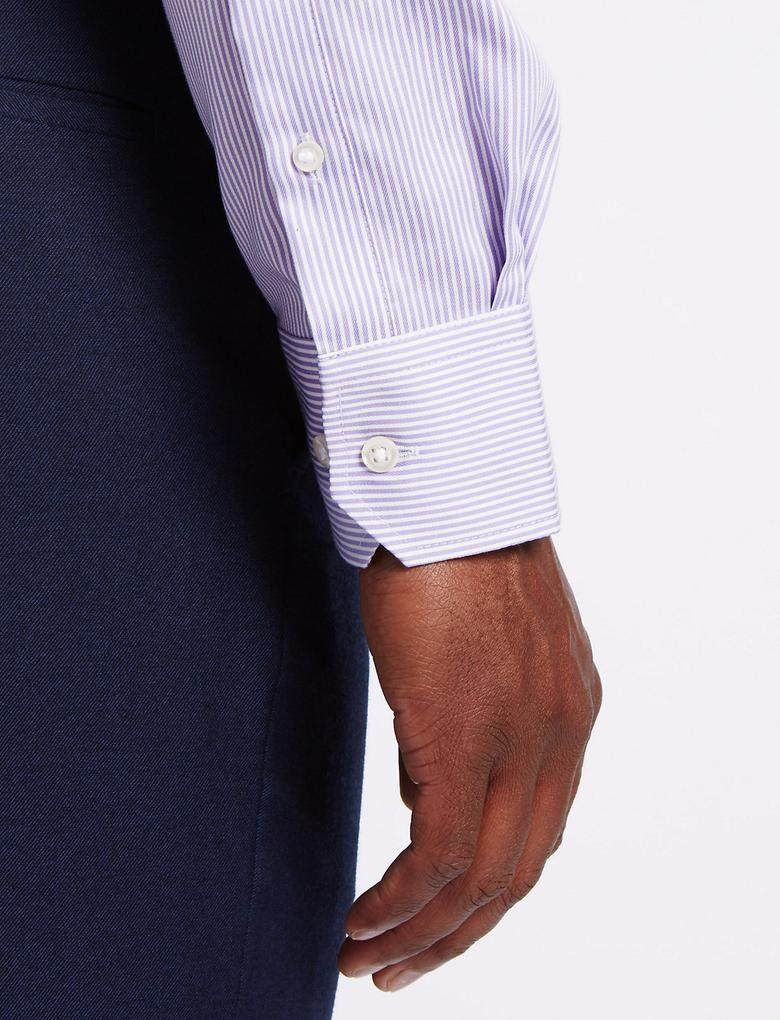 Pure Cotton Ütü Gerektirmeyen Cepli Gömlek