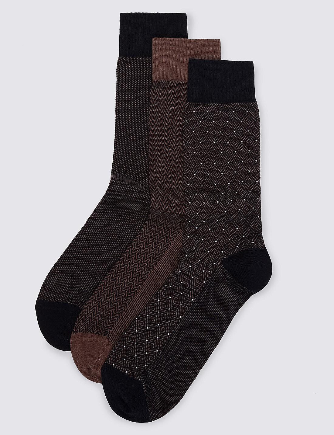 3'lü Pamuklu Çorap