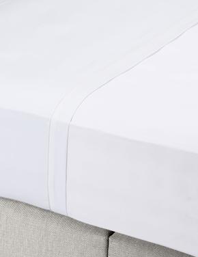 Ev Beyaz Ütü Gerektirmeyen Saf Egyptian Cotton (Mısır Pamuğu) Çarşaf