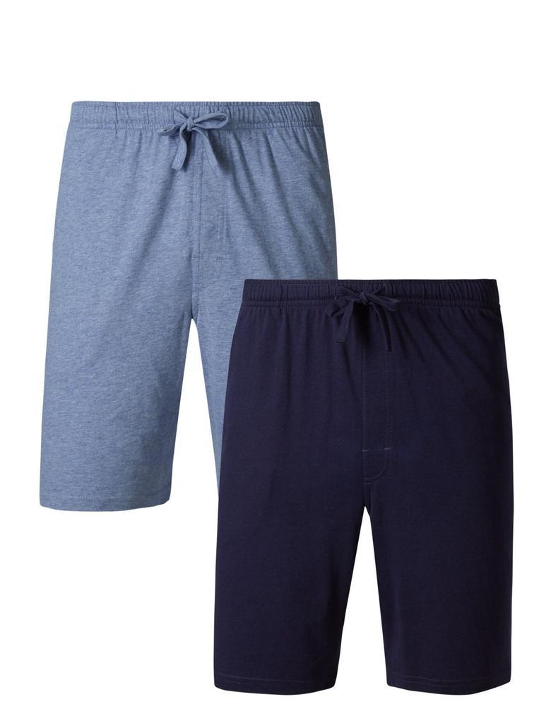 Lacivert 2'li Saf Pamuklu Yumuşak Pijama Takımı