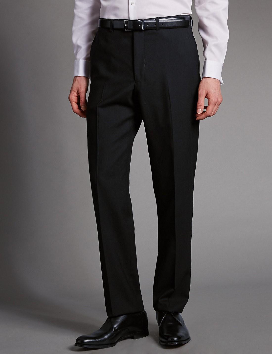 Pure Wool Tailored Supercrease™ Pilesiz Pantolon
