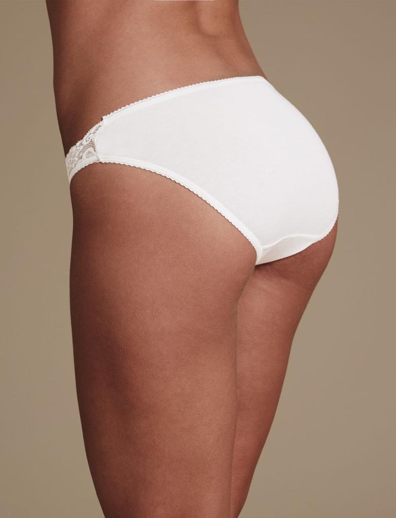 5'li Pamuklu Dantelli Bikini Külot (Yeni ve Geliştirilmiş Kumaş)