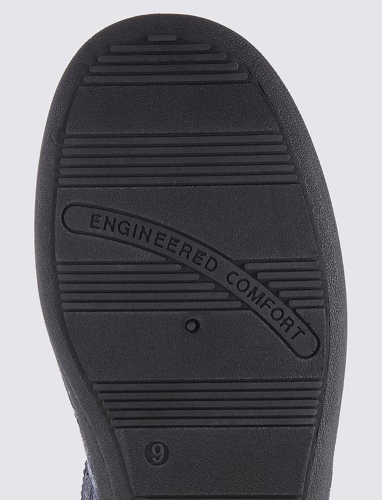 Lacivert Ekose Terlik (Thinsulate™ Teknolojisi ile)