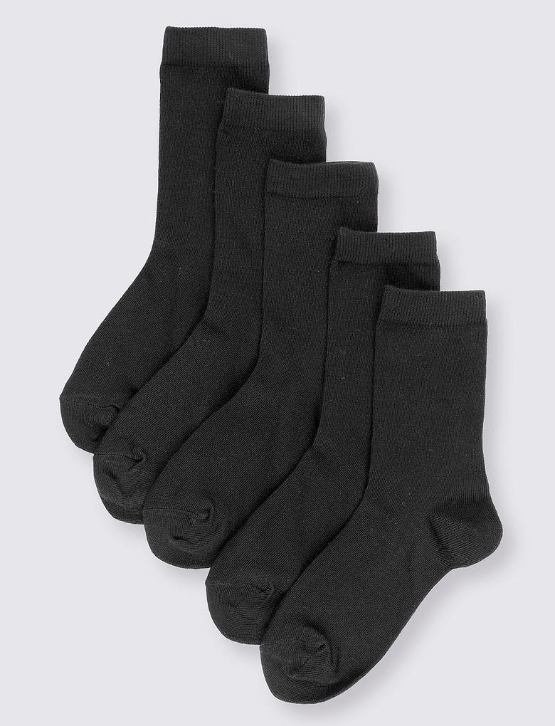 5'li Pamuklu Freshfeet™ Okul Çorabı (5 - 14 Yaş)