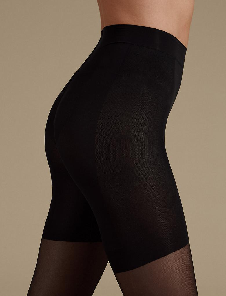 Siyah 15 Denye Secret Slimming™ Külotlu Çorap