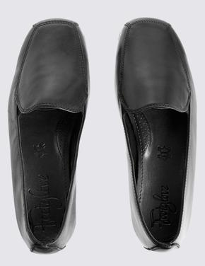 Siyah Deri Makosen Ayakkabı