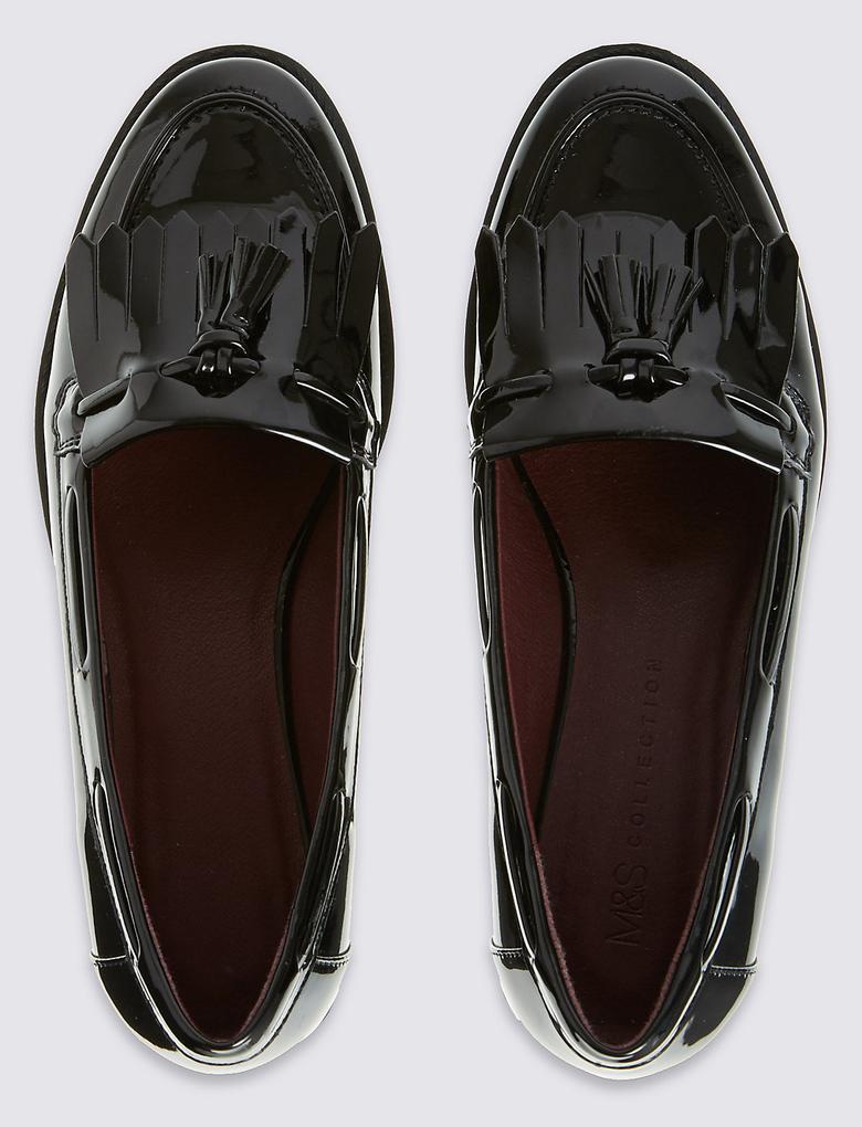Kalın Topuklu Makosen Ayakkabı