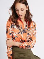 Çiçek Desenli Uzun Kollu Gömlek
