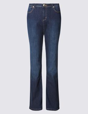 Slim Bootleg Denim Pantolon