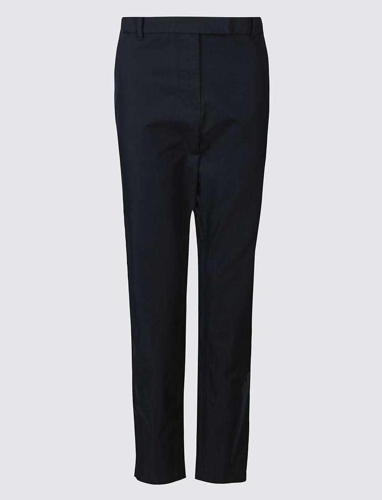 Pamuklu Chino Straight Pantolon