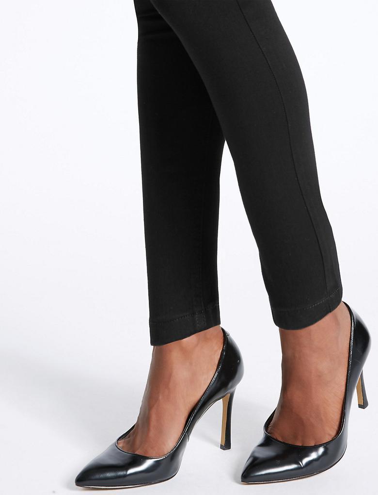 Yüksek Bel Super Skinny Denim Pantolon