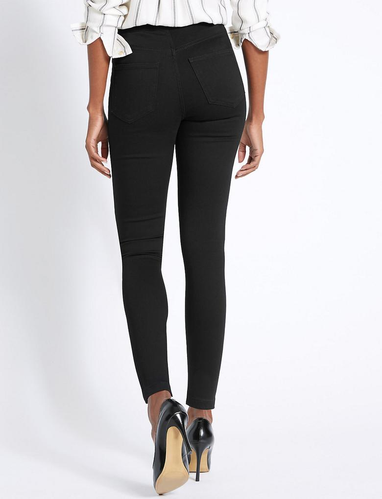 Yüksek Belli Super Skinny Denim Pantolon