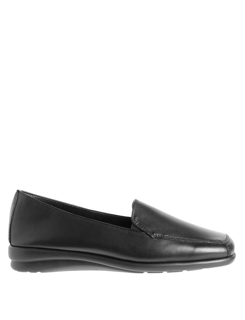 Kadın Siyah Deri Makosen Ayakkabı