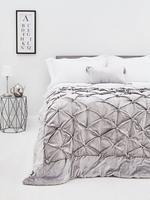 Metalik Kadife Kıstıraçlı Yatak Örtüsü