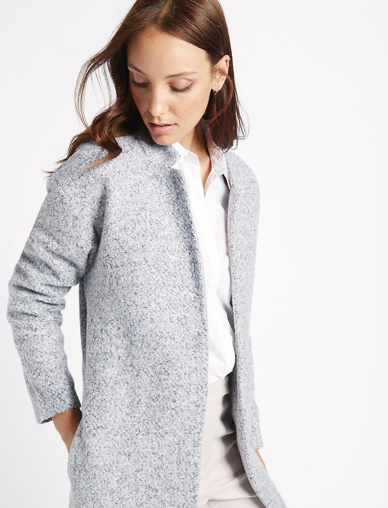 Gri Uzun Ceket