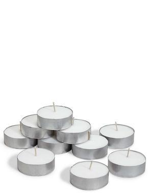 Ev Beyaz 10'lu Maxi Tealight Seti
