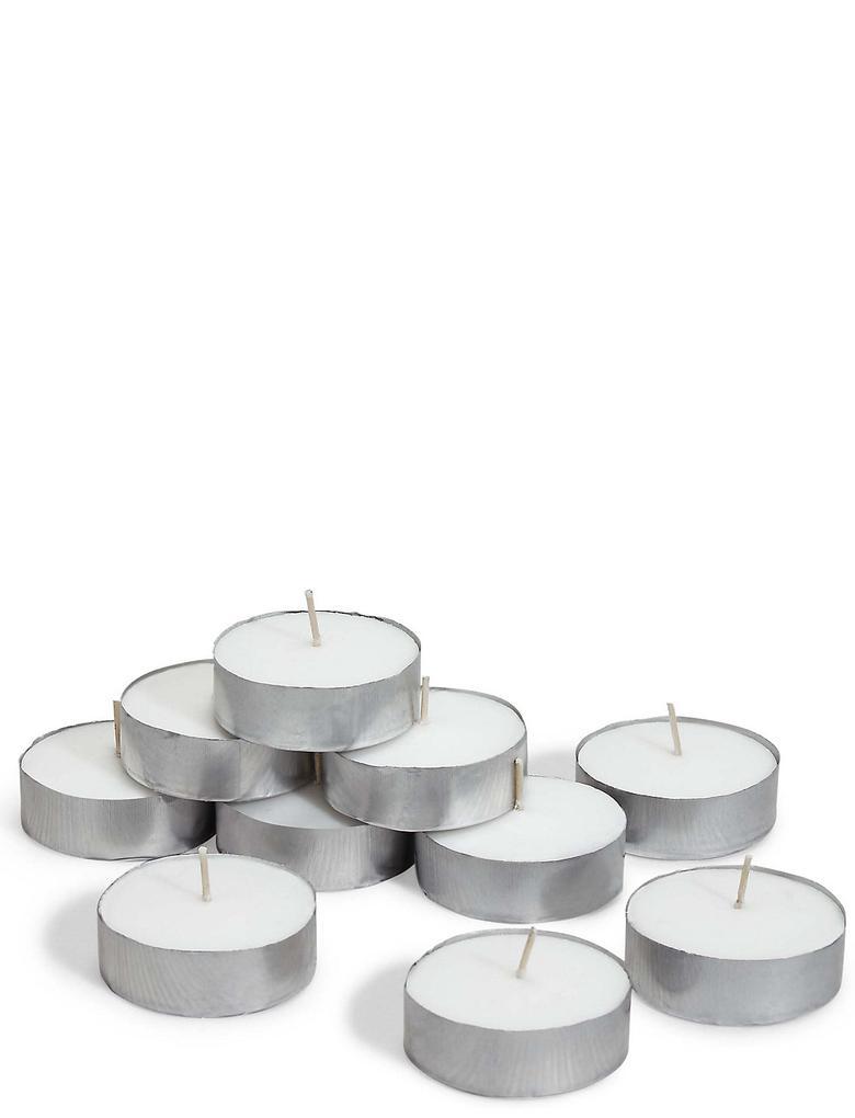 Beyaz 10'lu Maxi Tealight Seti