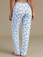 Mavi Çiçek Desenli Pijama Altı