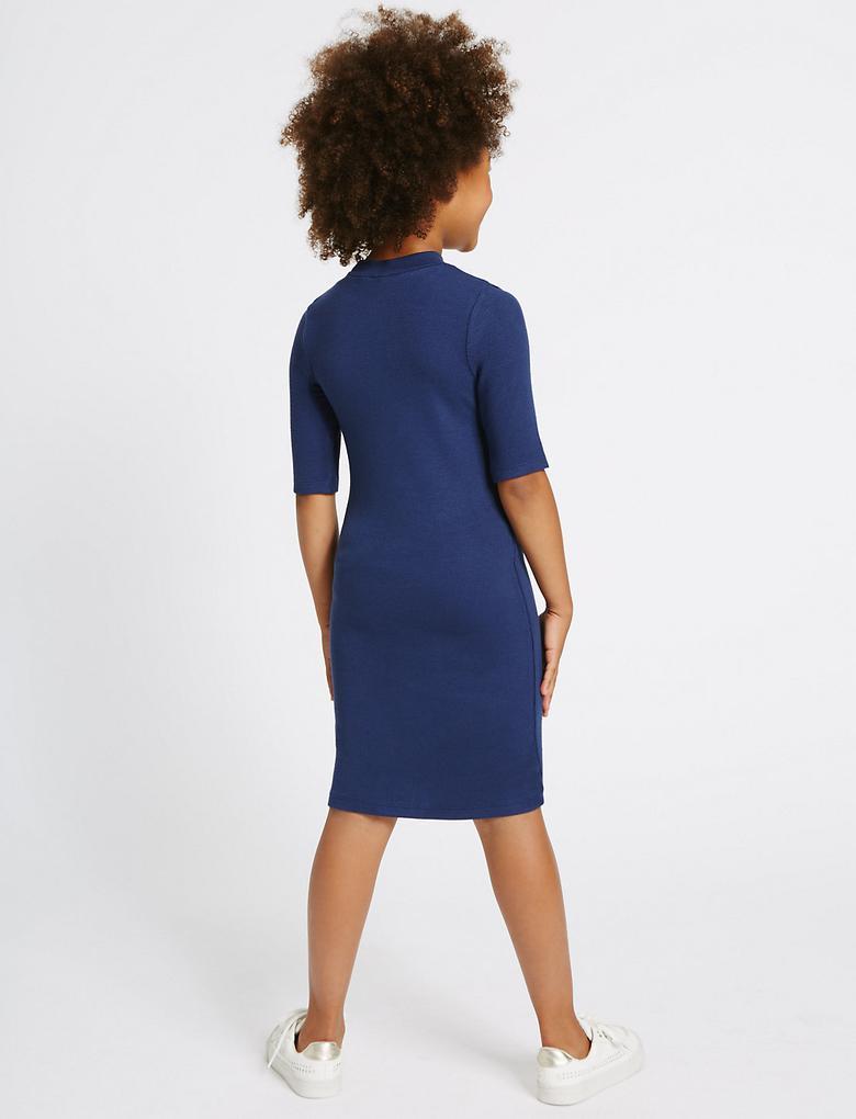 Fitilli Bodycon Elbise (3 - 14 Yaş)