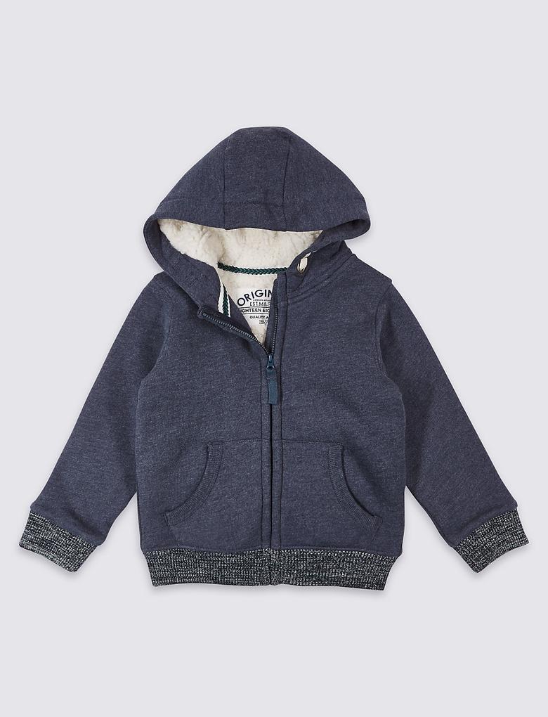 Pamuklu Fermuarlı Sweatshirt (3 Ay - 5 Yaş)