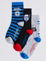 3'lü Pamuklu Star Wars Desenli Çorap
