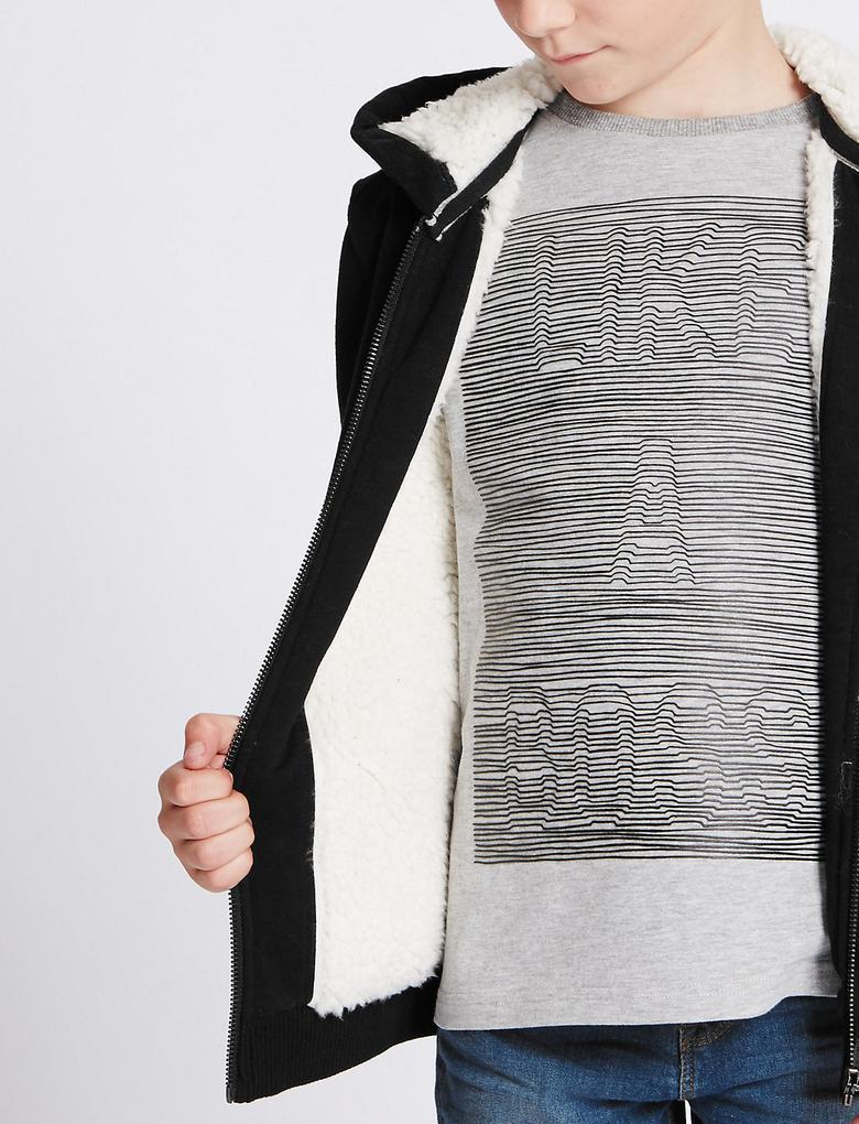 Pamuklu Kapüşonlu Sweatshirt (3 - 14 Yaş)