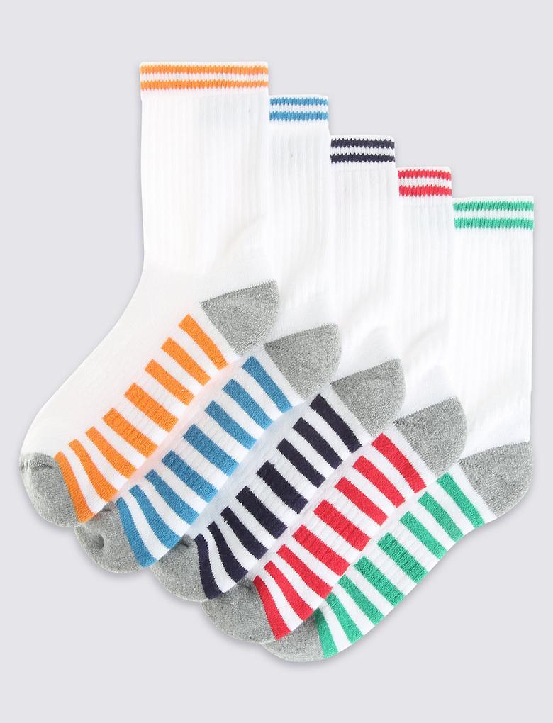 5'li Pamuklu Freshfeet™ Çorabı (3 - 14 Yaş)