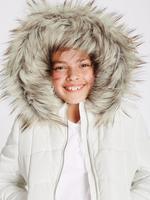 Suni Kürk Dolgulu Fermuarlı Ceket (Stormwear™ Teknolojisi ile) (3 - 16 Yaş)