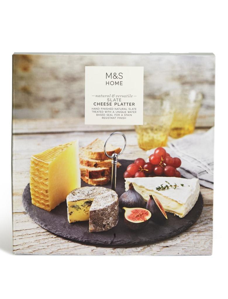 Gri Taştan Yuvarlak Peynir Tabağı