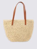 Hasır Shopper Çanta