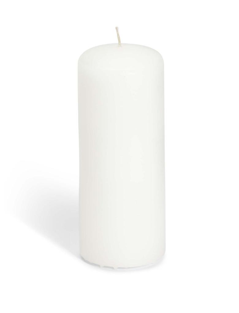 Beyaz Orta İnce Sütun Mum