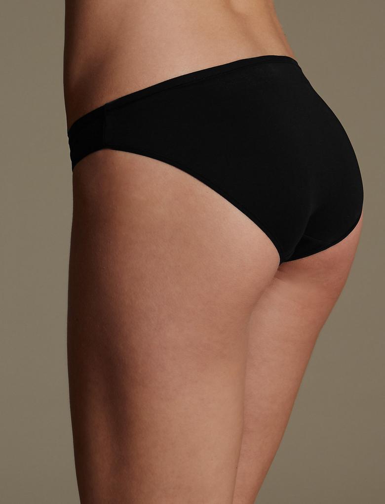 Multi Renk 5'li İz Bırakmayan Mikrofiber Düşük Bel Bikini Külot