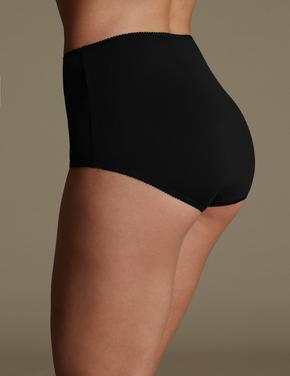 Kadın Siyah 5'li Pamuklu Full Brief Külot (Yeni ve Geliştirilmiş Kumaş)