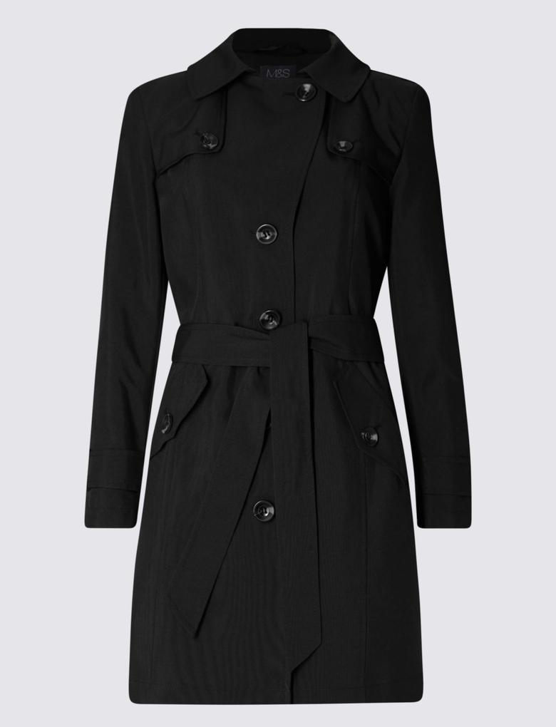 Siyah Stormwear™ Kemerli Yağmurluk