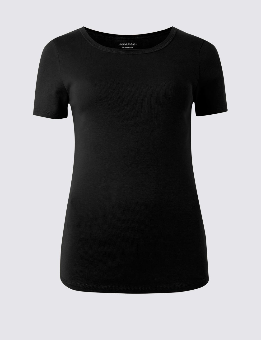Pure Cotton Yuvarlak Yaka Kısa Kollu T-Shirt