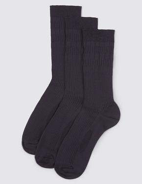 Lacivert 3'lü Çorap (Freshfeet™ Teknolojisi ile)