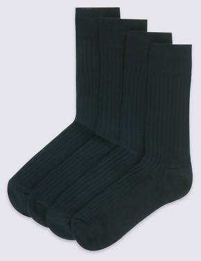 Erkek Siyah 4'lü Kuzu Yünlü Çorap