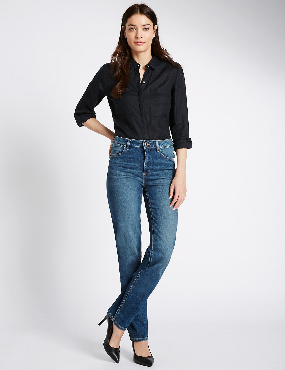 Sculpt & Lift Straight Denim Pantolon