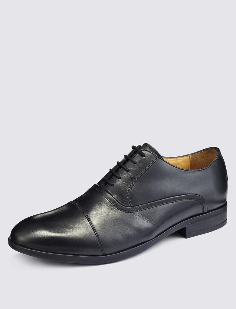 Deri Burunlu Oxford Ayakkabı (Airflex™ Teknolojisi ile)