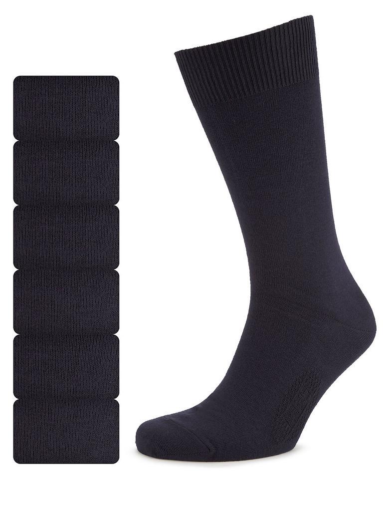 Lacivert 7'li Pamuklu Çorap Seti (Freshfeet™ Teknolojisi ile)